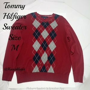 Tommy Hilfiger Argyle Sweater Crewneck Med
